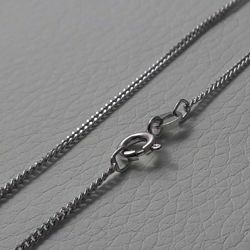 Picture of Curb Chain Necklace Silver 925 cm 40 (15,7 in) Unisex Woman Man Boy Girl