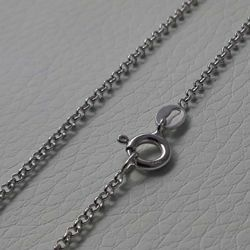 Picture of Cable Rolo Chain Necklace Silver 925 cm 45 (17,7 in) Unisex Woman Man Boy Girl