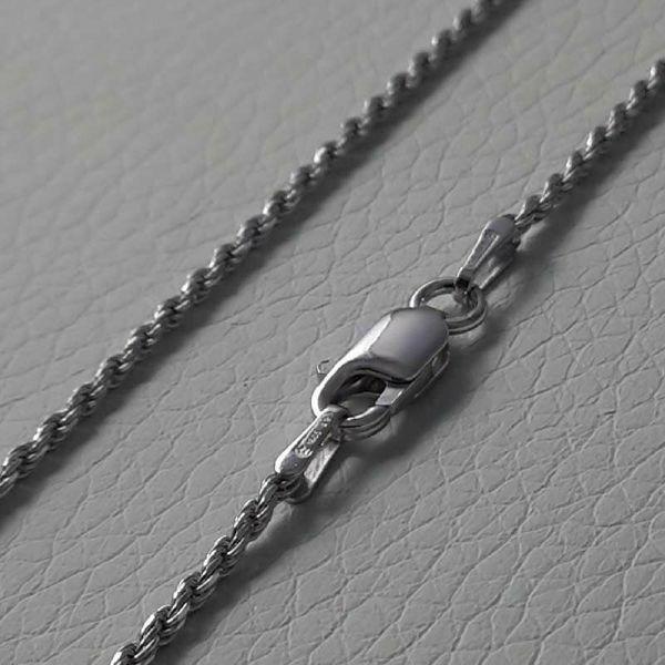 Imagen de Cadena Malla Cordón Plata de ley 925 cm 50 (19,7 in) Unisex Mujer Hombre