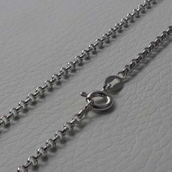 Picture of Cable Rolo Chain Silver 925 cm 50 (19,7 in) Unisex Woman Man
