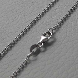 Picture of Cable Rolò Chain Necklace White Gold 18 kt cm 40 (15,7 in) Unisex Woman Man Boy Girl