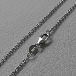 Picture of Cable Rolò Chain White Gold 18 kt cm 42+3 (16,5+1,2 in) Unisex Woman Man