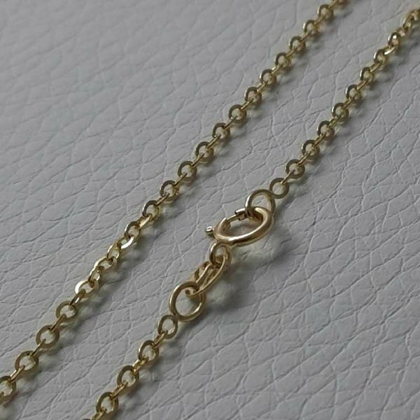 Picture of Cable Rolo Chain Necklace Yellow Gold 18 kt cm 40 (15,7 in) Unisex Woman Man Boy Girl