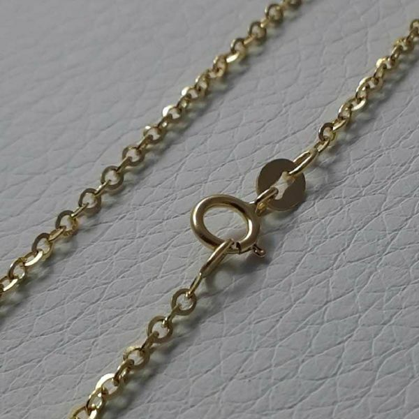 Picture of Cable Rolò Chain Necklace Yellow Gold 18 kt cm 45 (17,7 in) Unisex Woman Man Boy Girl