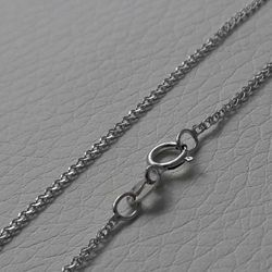 Picture of Wheat Chain Necklace White Gold 18 kt cm 40 (15,7 in) Unisex Woman Man Boy Girl