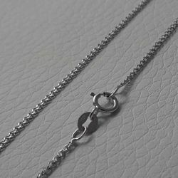Picture of Wheat Chain Necklace White Gold 18 kt cm 45 (17,7 in) Unisex Woman Man Boy Girl