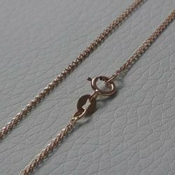 Picture of Wheat Chain Necklace Rose Gold 18 kt cm 40 (15,7 in) Unisex Woman Man Boy Girl