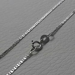 Picture of Enchor Chain Necklace White Gold 18 kt cm 40 (15,7 in) Unisex Woman Man Boy Girl
