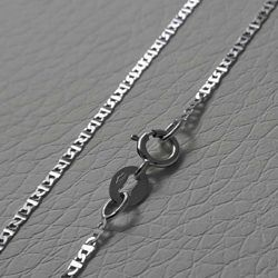 Picture of Enchor Chain Necklace White Gold 18 kt cm 45 (17,7 in) Unisex Woman Man Boy Girl
