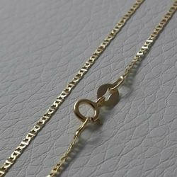 Picture of Enchor Chain Necklace Yellow Gold 18 kt cm 45 (17,7 in) Unisex Woman Man Boy Girl