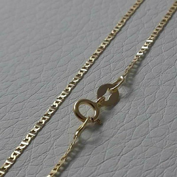 Immagine di Catena Girocollo Maglia Traversino Oro giallo 18 kt cm 45 (17,7 in) Unisex Donna Uomo Bimba Bimbo