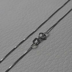 Picture of Box Chain White Gold 18 kt cm 50 (19,7 in) Unisex Woman Man