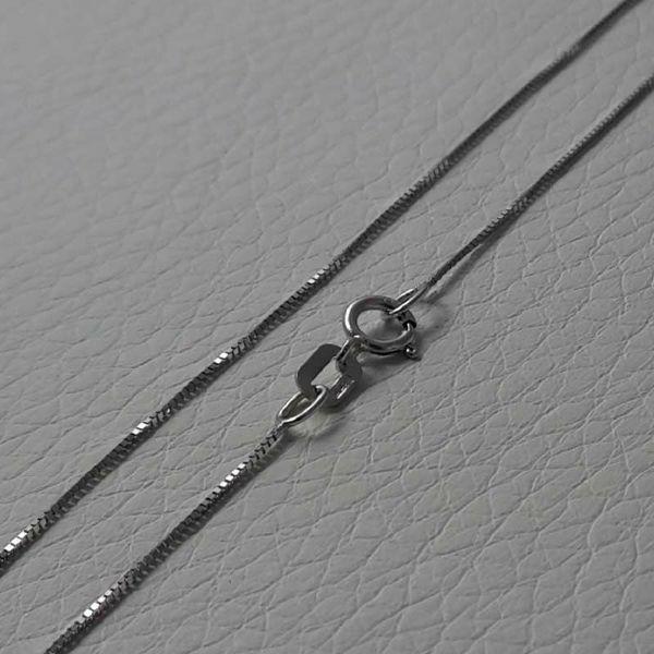 Immagine di Collana Catena Maglia Veneta Oro bianco 18 kt cm 50 (19,7 in) Unisex Donna Uomo
