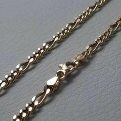 Picture of 3+1 Figaro Chain Yellow Gold 18 kt cm 50 (19,7 in) Unisex Woman Man
