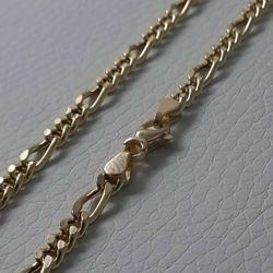 Picture of 3+1 Figaro Chain Yellow Gold 18 kt cm 60 (23,60 in) Unisex Woman Man