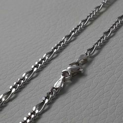 Picture of 3+1 Figaro Chain White Gold 18 kt cm 50 (19,7 in) Unisex Woman Man
