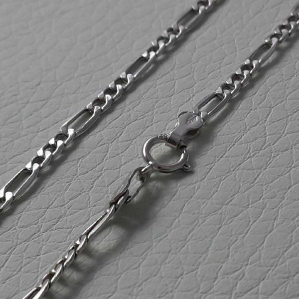 Picture of 3+1 Figaro Chain White Gold 18 kt cm 60 (23,60 in) Unisex Woman Man
