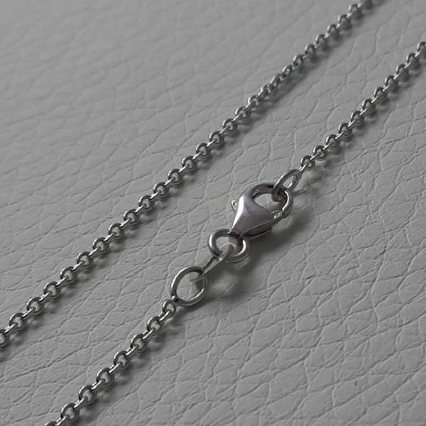 Picture of Cable Rolo Chain Necklace White Gold 18 kt cm 45 (17,7 in) Unisex Woman Man Boy Girl