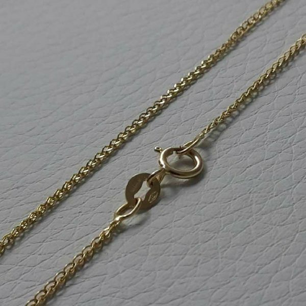 Picture of Wheat Chain Necklace Yellow Gold 18 kt cm 40 (15,7 in) Unisex Woman Man Boy Girl