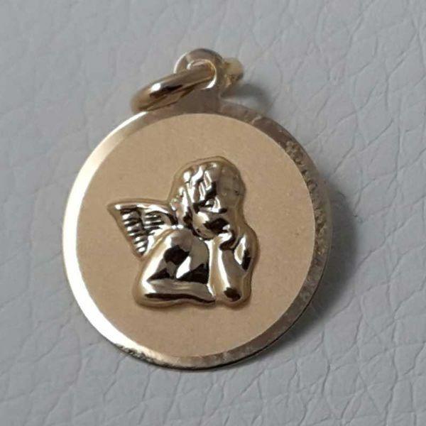 Imagen de Ángel de Rafael Medalla Sagrada Colgante redonda gr 1 Oro amarillo 18kt para Mujer y para Niña y Niño