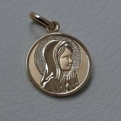 Picture of Madonna praying with aureole Sacred Medal Round Pendant gr 2,6 Yellow Gold 18k for Woman