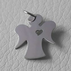 Picture of Guardian Angel with Heart Pendant gr 1 White Gold 18k for Children (Boys and Girls)