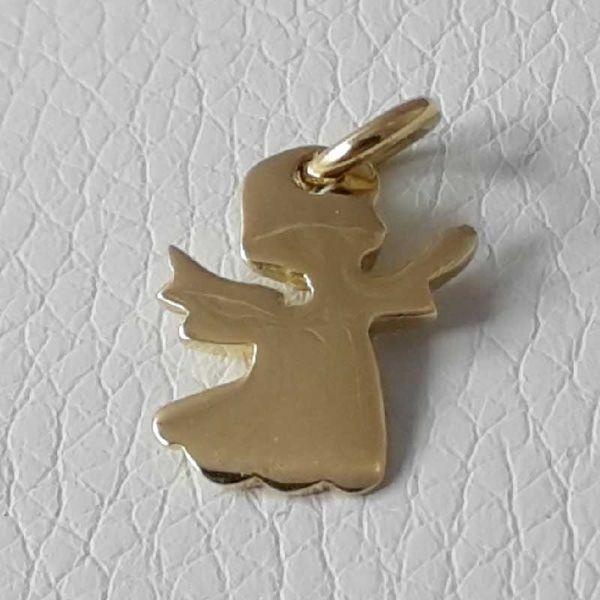Imagen de Ángel en Oración Colgante gr 2 Oro amarillo 18kt para Niño y Niña