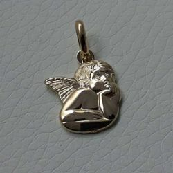 Picture of Angel of Raphael Pendant gr 1,65 Yellow Gold 18k for Woman, Boy and Girl