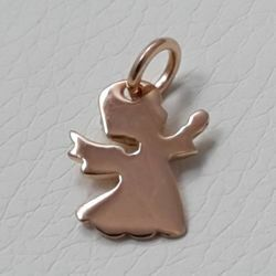 Picture of Guardian Angel praying Pendant gr 2 Rose Gold 18k for Children (Boys and Girls)