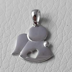 Picture of Angel with Heart Pendant gr 1,6 White Gold 18k for Children (Boys and Girls)
