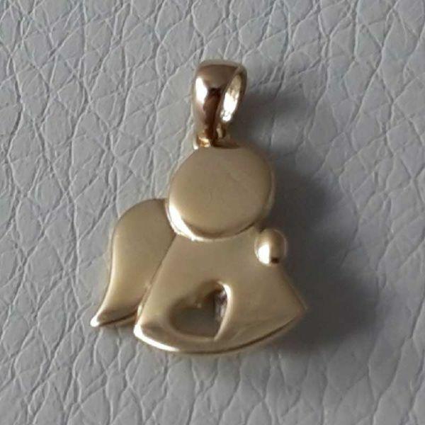 Imagen de Angel con Corazón Colgante gr 1,6 Oro amarillo 18kt para Niño y Niña