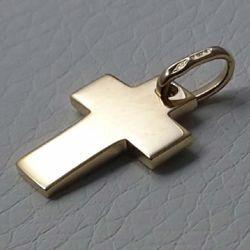Immagine di Croce dritta liscia Ciondolo Pendente gr 2,2 Oro giallo massiccio 18kt Unisex Donna Uomo