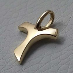 Picture of Saint Francis Tau Cross Pendant gr 1,3 Yellow solid Gold 18k Unisex Woman Man
