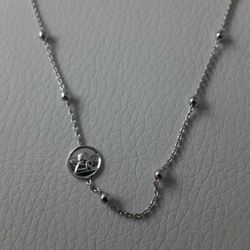 Picture of Necklace Silver 925 Glossy Spheres Guardian Angel gr.3,30 for Woman and Girl