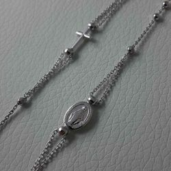 Picture of Rosary Necklace Silver 925 Miraculous Medal Cross gr.4,50 for Woman