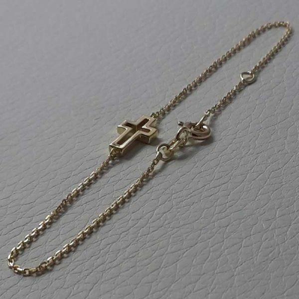 Immagine di Bracciale Moda con Croce aperta gr 1,5 Oro giallo 18kt da Donna