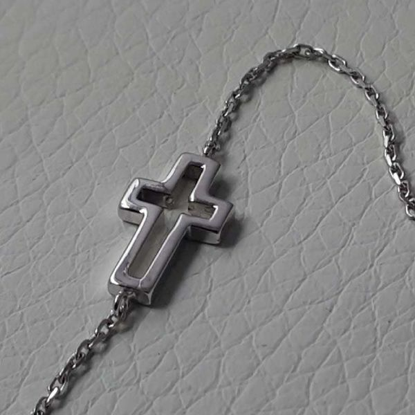 Picture of Cross Bracelet White Gold 18 kt gr.1,50