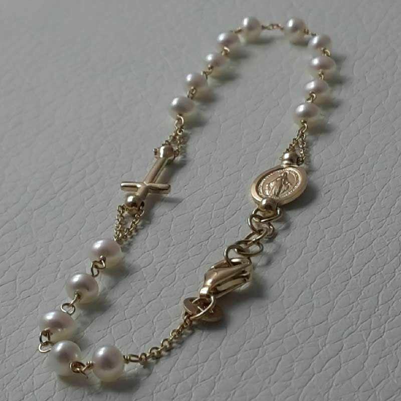 Pearl bracelet with pendant gr 17