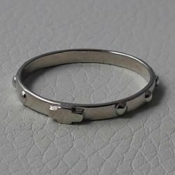 Picture of Rosary ring White Gold 18 kt gr.1,70 Unisex Woman Man