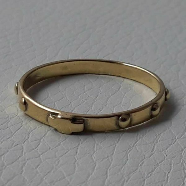 Picture of Rosary ring Yellow Gold 18 kt gr.1,70 Unisex Woman Man