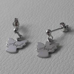 Picture of Earrings Silver 925 Angel gr.3,00 for Woman and Girl
