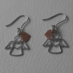 Picture of Earrings Silver 925 Angel with Heart and Charms gr.1,60 for Woman