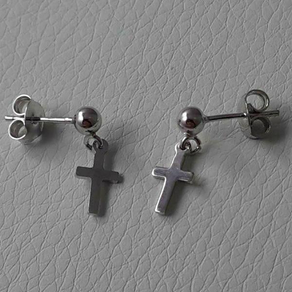 Immagine di Orecchini Argento 925 Croce gr.1,10 da Donna e Bimba
