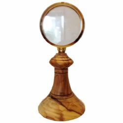 Picture of Eucharistic Shrine Monstrance H. cm 20 (7,9 inch) in Olive Wood of Assisi