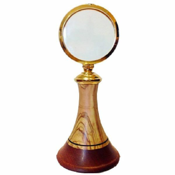 Picture of Eucharistic Shrine Monstrance H. cm 20 (7,9 inch) smooth Finish in Olive Wood of Assisi