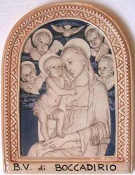 Picture of Virgin Mary Wall Panel cm 24 (9,4 in) Photoceramics Glazed Ceramic Della Robbia