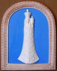 Immagine di Madonna di Loreto Pala da Muro cm 39x31 (15,4x12,2 in) Bassorilievo Ceramica Invetriata