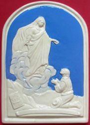 Immagine di Madonna di Montallegro Pala da Muro cm 24x17 (9,4x6,7 in) Bassorilievo Ceramica Robbiana