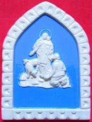 Imagen de Virgen de la Guardia Panel de pared cm 19x13 (7,5x5,1 in) Bajorrelieve Cerámica Della Robbia