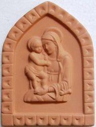 Immagine di Madonna di Boccadirio Formella da Muro cm 19 (7,5 in) Bassorilievo Terracotta